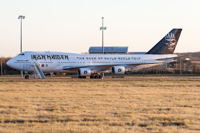Iron Maiden - Ed Force One - 2016 - Boeing 747 - Aereo