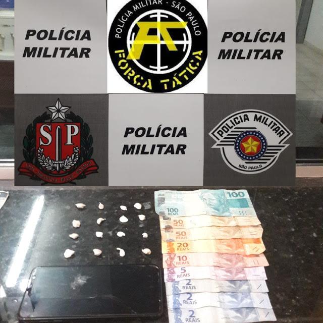 Traficante tenta subornar a Força Tática com R$ 10 mil, mas acaba preso