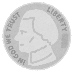 旧5セント硬貨のイラスト(表)