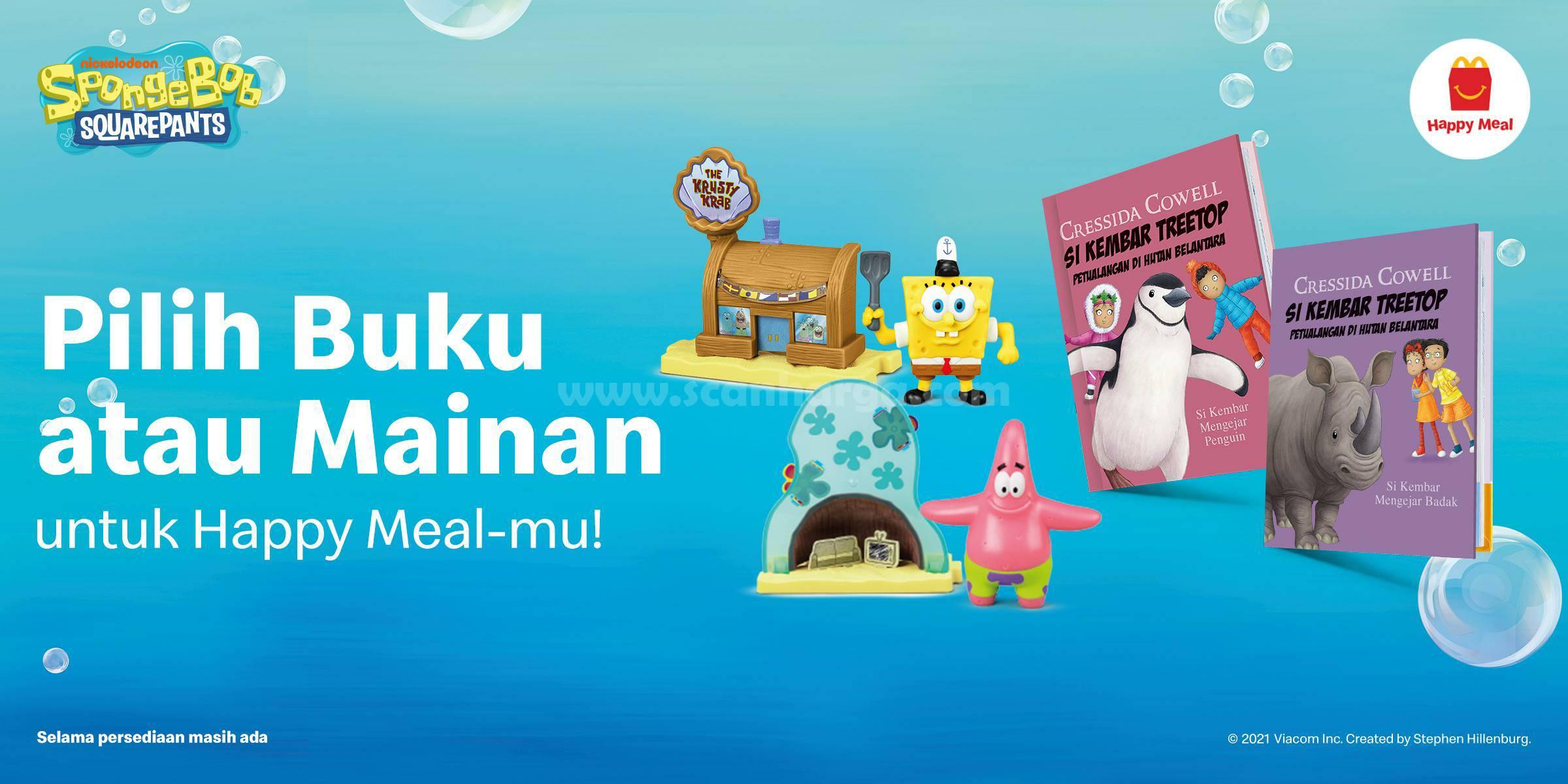 McDonalds Happy Meal Terbaru – GRATIS Mainan SpongeBob