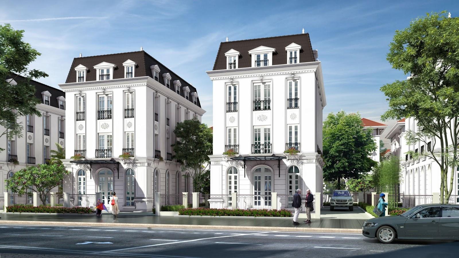 Cho thuê Biệt thự Embassy Garden mặt đường Nguyễn Văn Huyên kéo dài