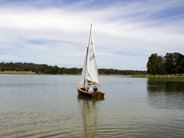 Sailing on Lake Burley Griffin. Canberra. Australia. Photo by Loire Valle Time Travel.