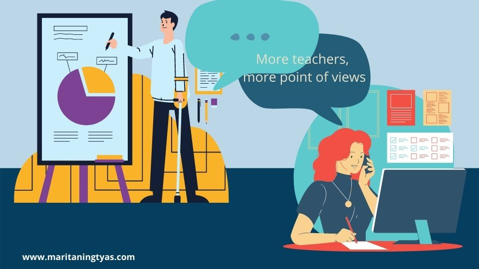 banyak guru memberikan banyak sudut pandang dan pengalaman