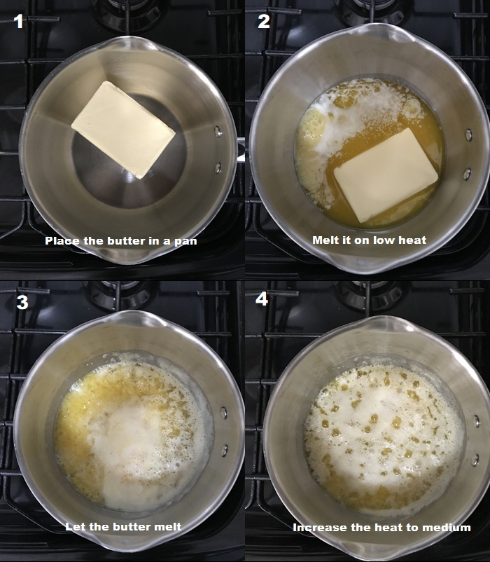 An image of making desi ghee from butter