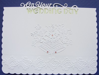 Wedding Rubber Stamping.Rubber Stamping North Wales A Wedding Card