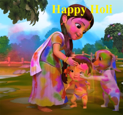 Holi Cartoon Images
