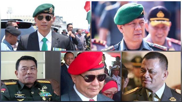 Lima Jenderal TNI 'Adu Kuat' Nyapres 2024, Siapa Unggul?