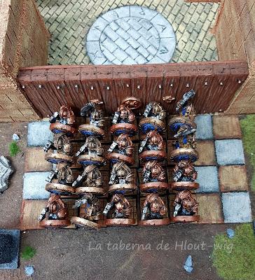 Guerreros con escudo
