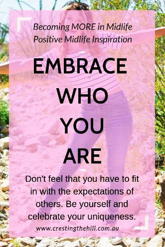 Learning to embrace who you are - accepting and celebrating authentic self. #authenticity