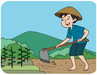 Petani  memperoleh sumber penghidupannya dari lahan pertanian