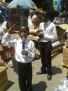 preaching the gospel by young boy