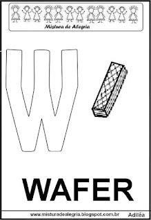 Alfabeto cartaz letra W