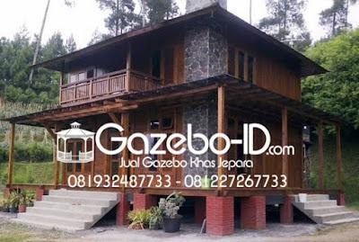 Gazebo Rumah Kayu 2 Lantai