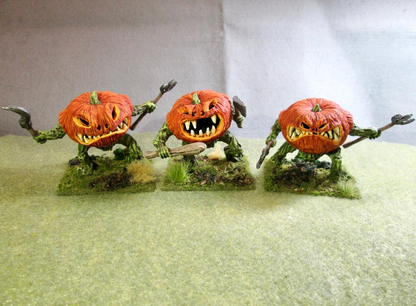 Painted Great Pumpkin Heads