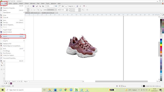 Cara Export Gambar di Corel Draw Agar Hasilnya Transparan