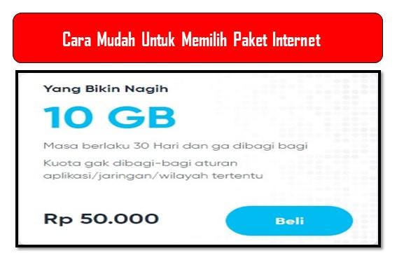 Cara Mudah Untuk Memilih Paket Internet