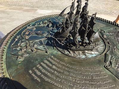 Карта-памятник битвы брига «Меркурий» на Матросском бульваре