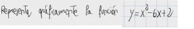 4.Representación gráfica de una función cuadrática (parábola) 2