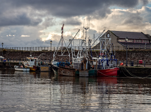 Photo of heavy clouds over Maryport Harbour on Tuesday