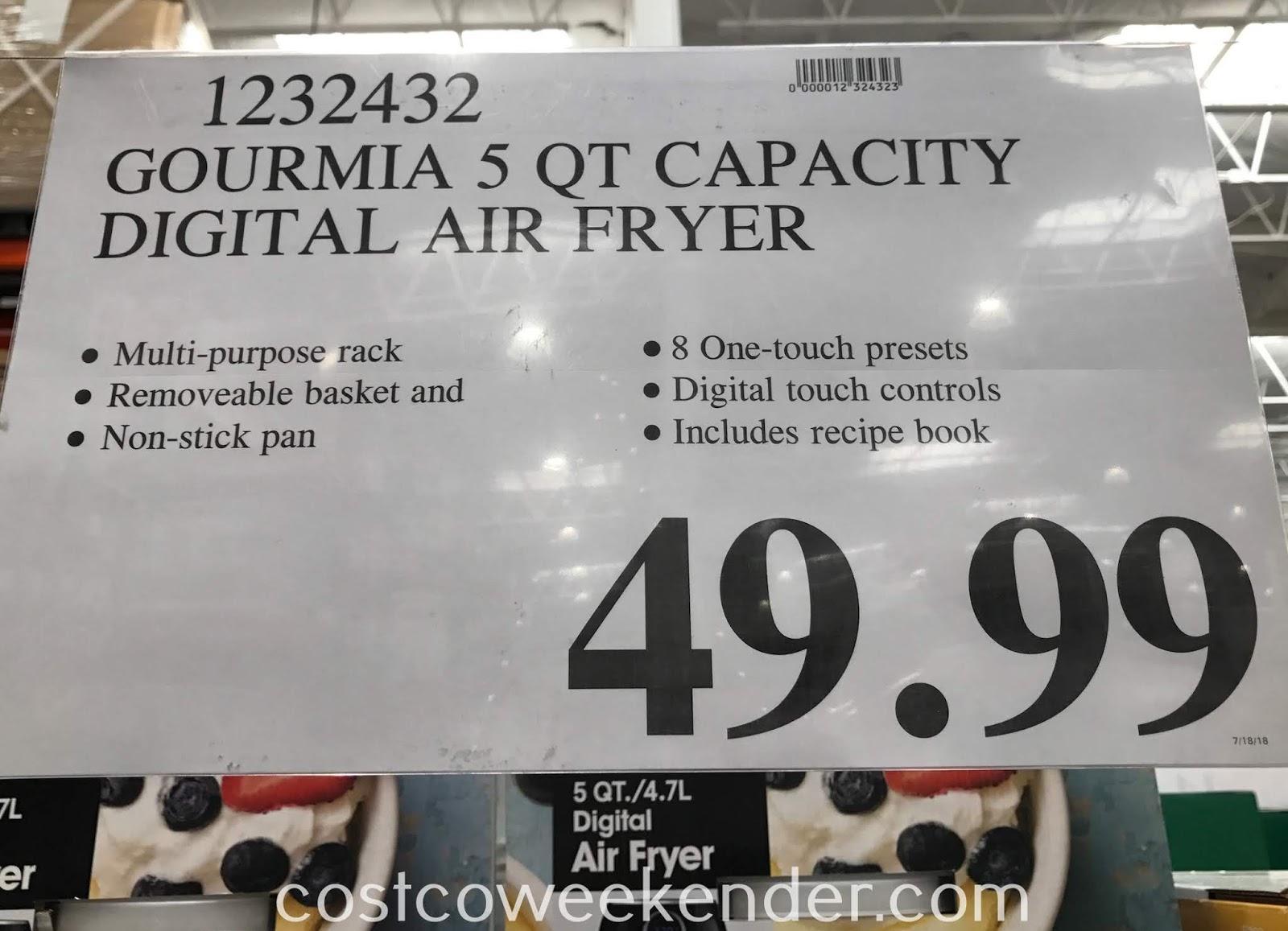 Deal for the Gourmia 5qt Digital Air Fryer at Costco