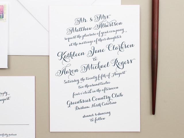 calligraphy script invitations
