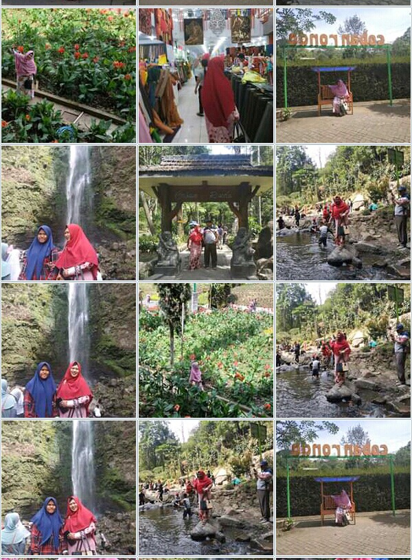 Bunda Lestari Sahsa Malika Refreshing Di Coban Rondo Malang