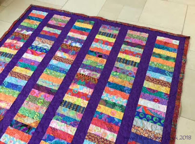 Penny's Chinese Coin Kaffe Fassett Quilt