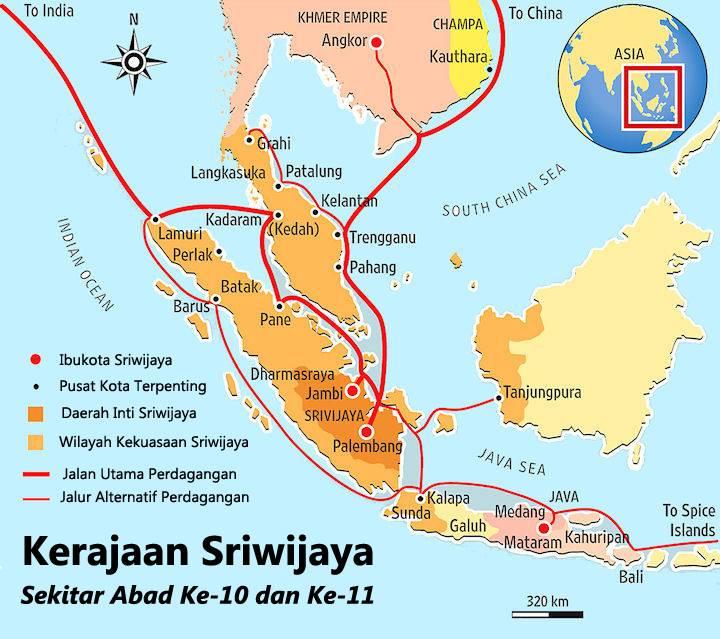 wilayah kerajaan sriwijaya