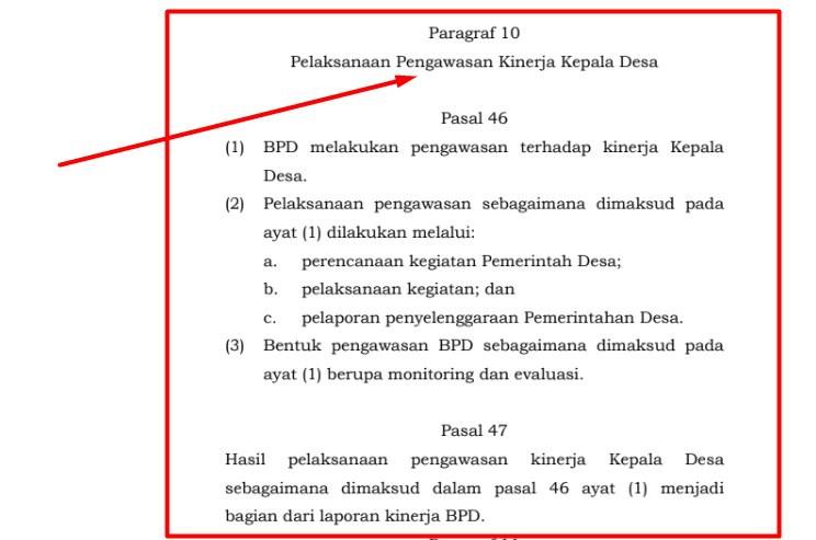 Pelaksanaan Pengawasan Kinerja Kepala Desa Oleh BPD Pelaksanaan Pengawasan Kinerja Kepala Desa Oleh BPD