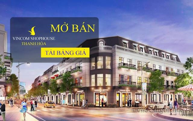 Đại lý chính thức của vincom shophouse Thanh hóa.