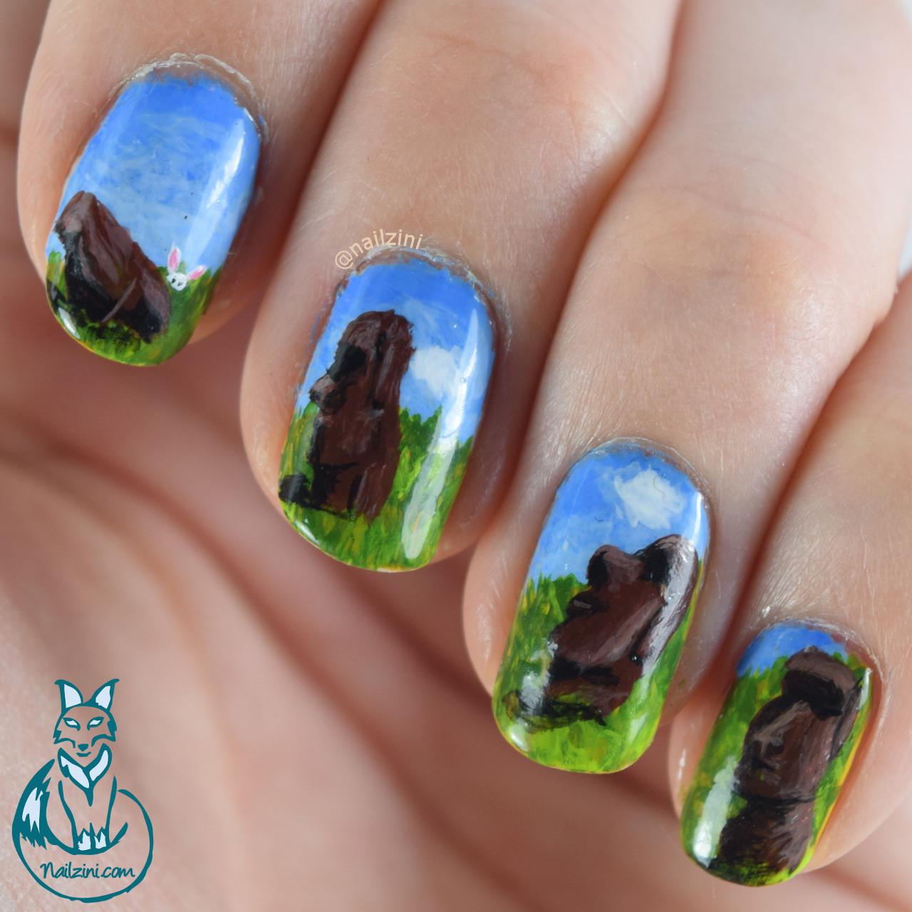 Easter Island Nail Art