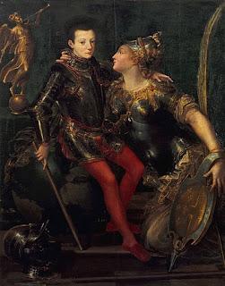 Girolamo Mazzola Bedoli's 1556 painting entitled Parma embraces Alessandro Farnese