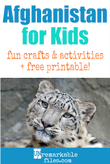 Learning about Afghanistan is fun and hands-on with these free crafts, ideas, and activities for kids! #Afghanistan #educational