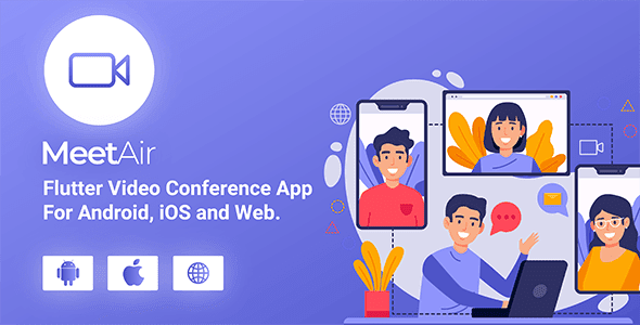 MeetAir v1.0.6 - iOS and Android Video Conference App for Live Class, Meeting, Webinar, Online Training