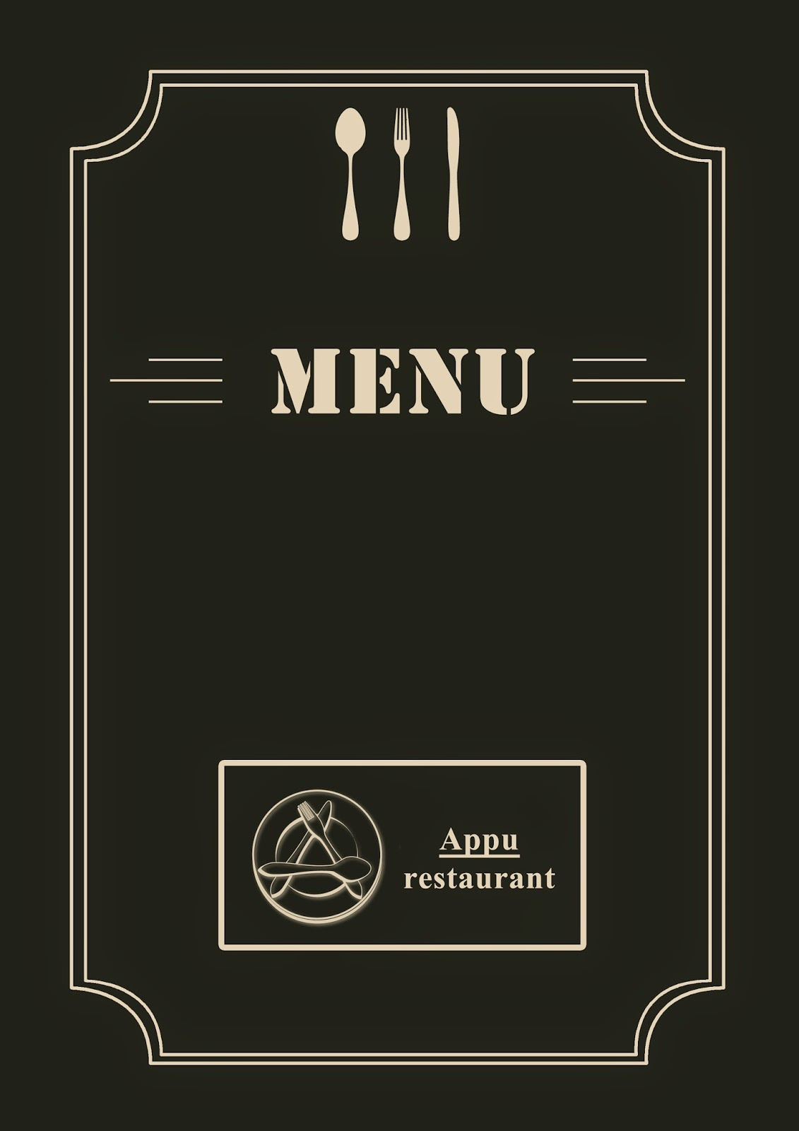 Do It Yourself: DIY(Do It Yourself): Hotel Menu Card Design