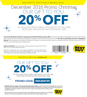 Best Buy coupons for december 2016