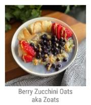 Berry Zucchini Oats aka Zoats