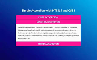 Simple Accordion Design using only HTML and CSS