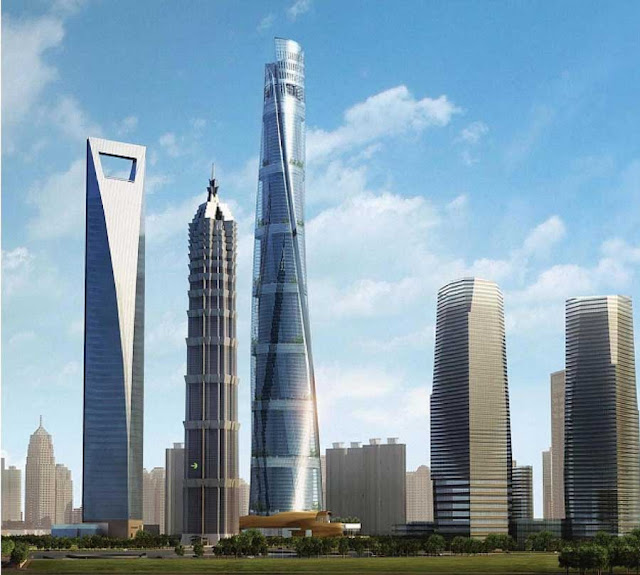 Shanghai Tower in the shanghai skyline