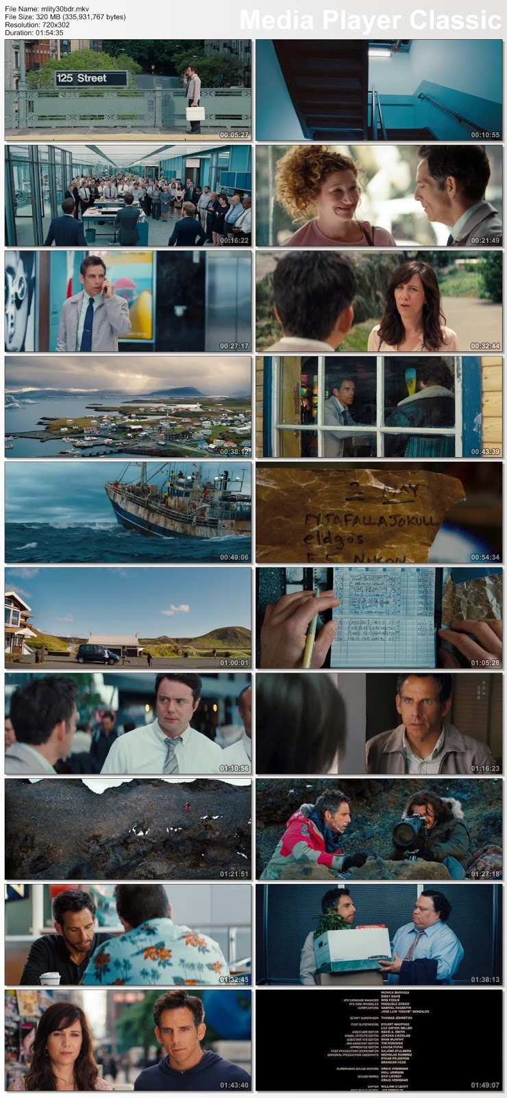 The Secret Life of Walter Mitty (2013) BRRip 480p 400Mb Full Movie Download