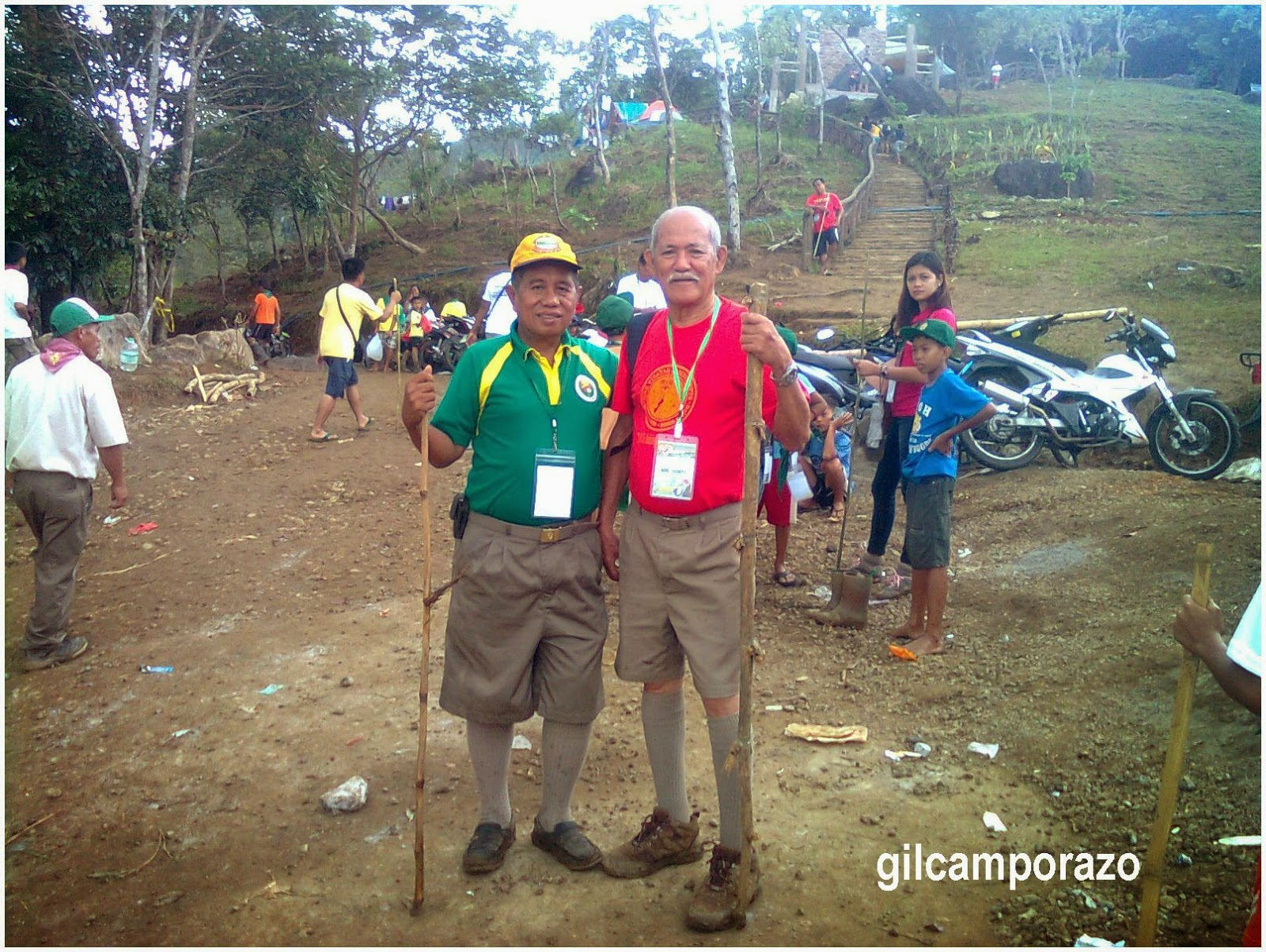 Scouter Garredo and me at the main entrance of the camp site