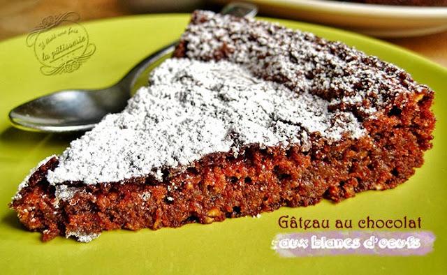 recette de gateau au chocolat léger aux blancs d'oeufs