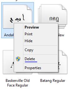 Hướng dẫn cách xóa Font trong Windows