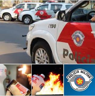 POLÍCIA MILITAR PRENDE HOMEM POR AMEAÇAR QUEIMAR A PRÓPRIA FAMÍLIA