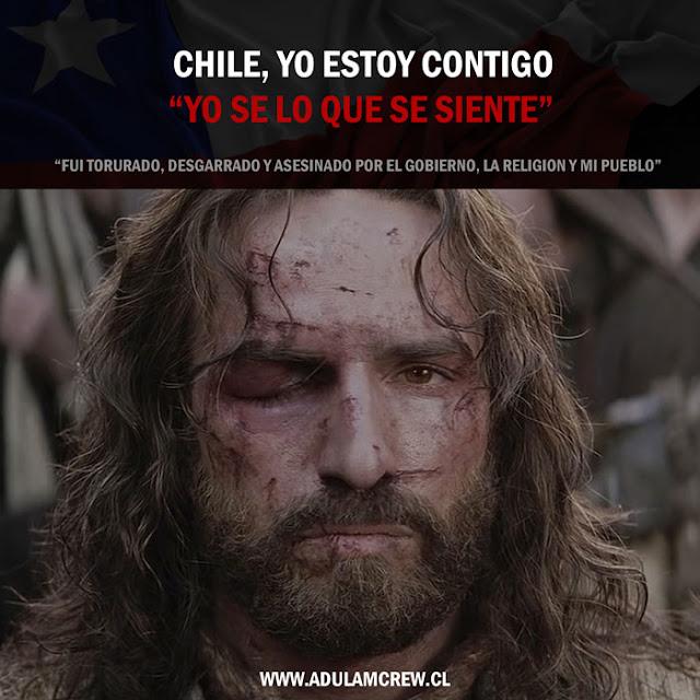 """Chile, yo estoy contigo. """"Yo sé lo que se siente"""" - image jesus-asesinado%257D on http://adulamcrew.cl"""