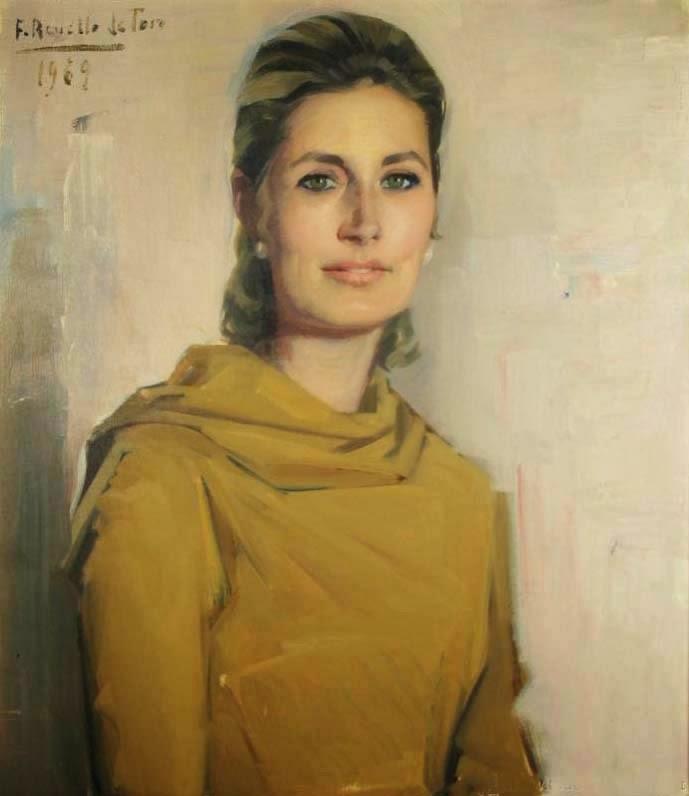 Félix Revello de Toro, Retrato de una mujer, Revello de Toro, Pintores Malagueños, Retratos de Revello de Toro, Pintor español, Pintores de Málaga, Pintor Revello de Toro
