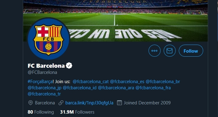 FC Barcelona Twitter Account Hacked by OurMine Hacker Group