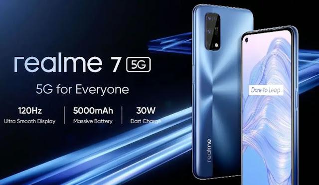 رسميًا سعر ومواصفات هاتف ريلمي 7 فايف جي Realme 7 5G
