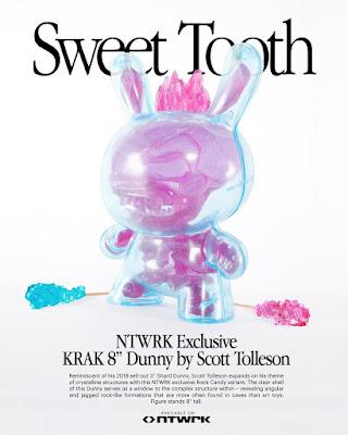 "NTWRK Exclusive KRAK Rock Candy Edition 8"" Dunny Vinyl Figure by Scott Tolleson x Kidrobot"