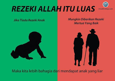 islamic quote, rezeki allah itu luas